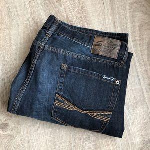 Seven dark wash straight leg jeans 40 x 32